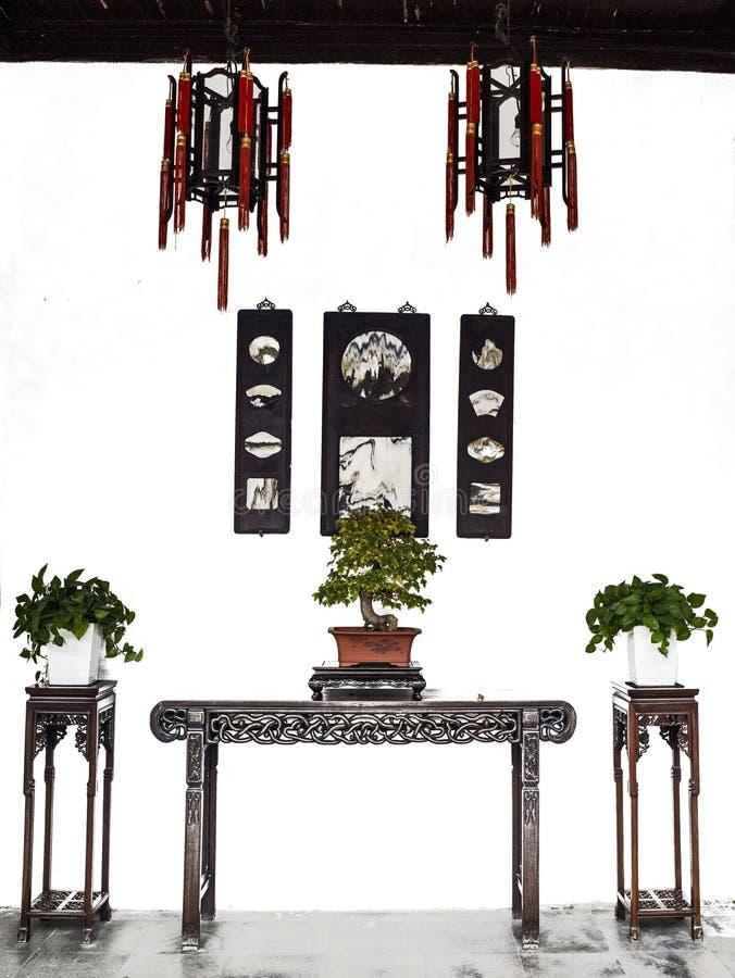 Pasillo del estilo chino imagenes de archivo