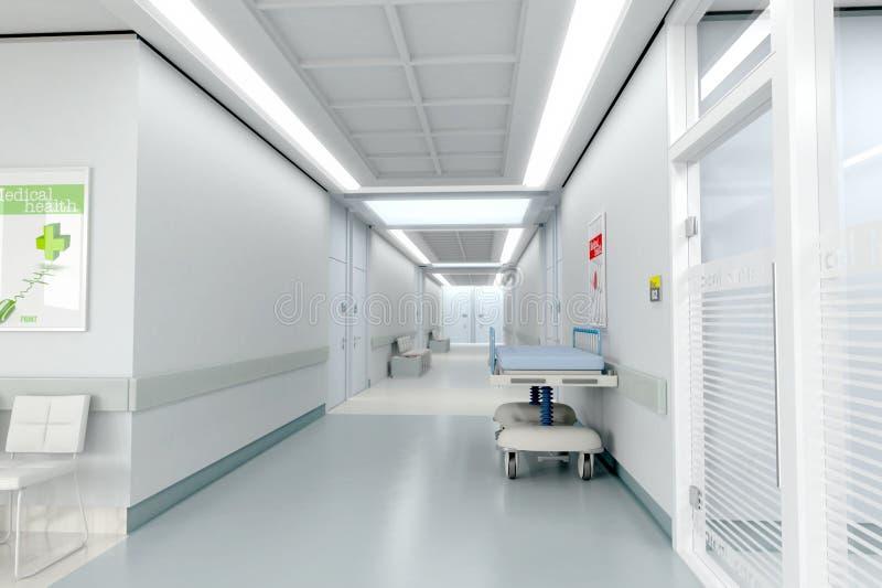 Pasillo del hospital stock de ilustración