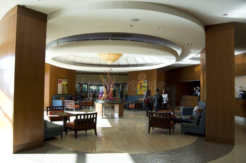 Pasillo del hotel de la costa de Seattle Marriott imágenes de archivo libres de regalías