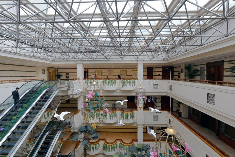 Pasillo del hotel jinyan fotos de archivo