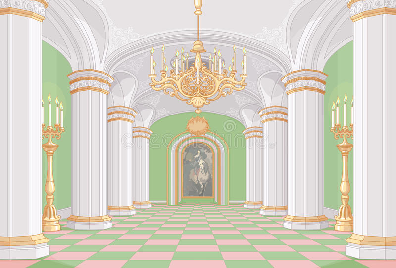Pasillo del palacio ilustración del vector