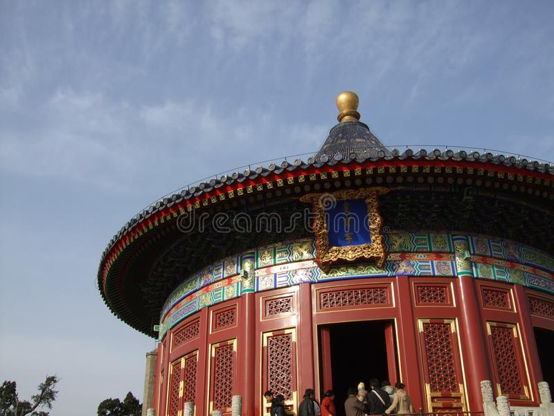 Pasillo del rezo para las buenas cosechas en Pekín foto de archivo libre de regalías