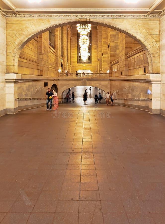 Pasillo dentro de la estación de Grand Central, New York City fotos de archivo libres de regalías