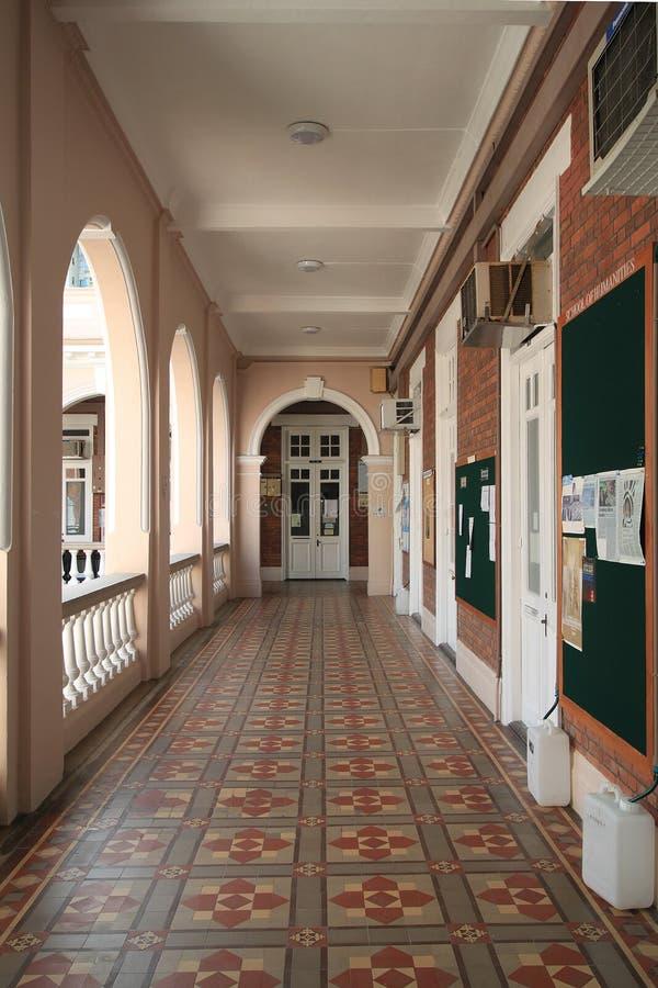 Pasillo en la universidad de Hong-Kong fotografía de archivo libre de regalías