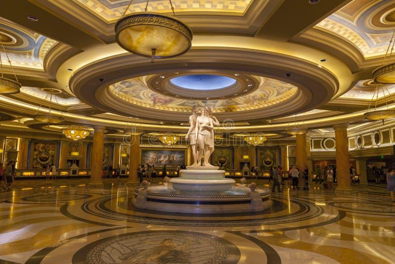 Pasillo en Las Vegas, nanovoltio del Caesars Palace el 26 de junio de 2013 fotos de archivo