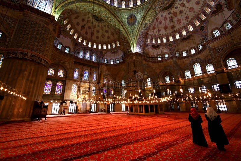 Pasillo en mezquita azul imágenes de archivo libres de regalías