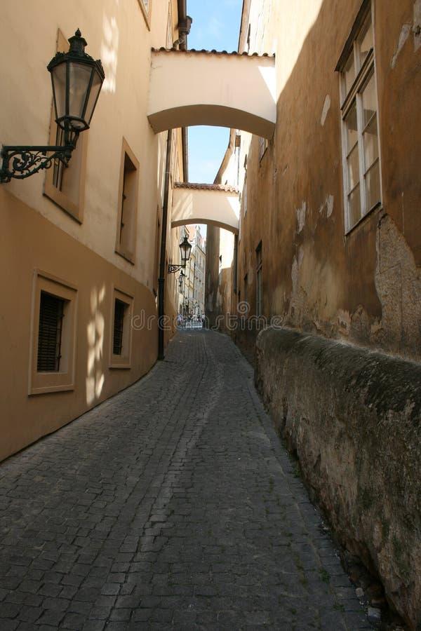 Pasillo en Praga imagenes de archivo