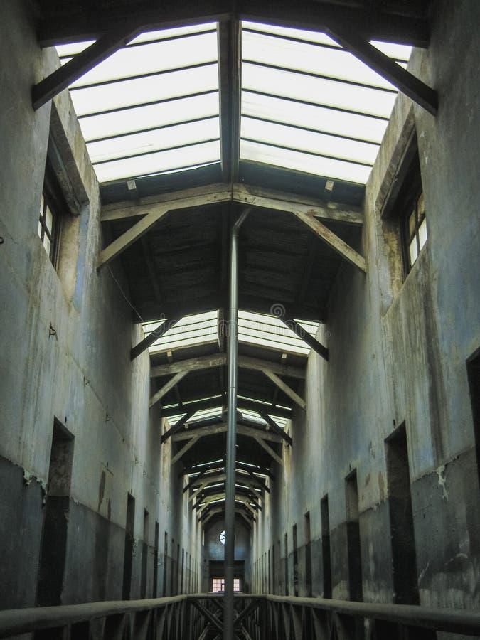 Pasillo en una prisión situada en la Patagonia la Argentina del ushuaia fotos de archivo libres de regalías