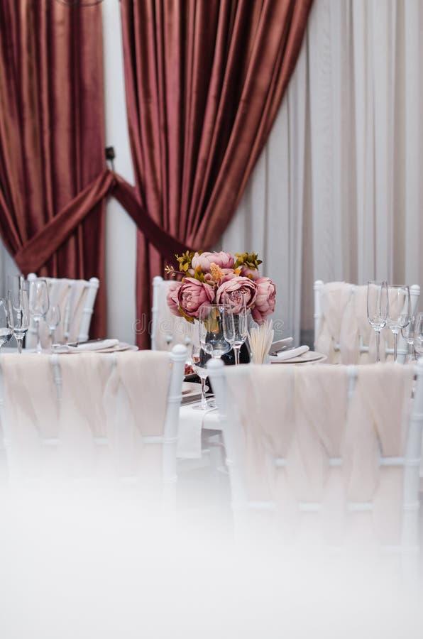 Pasillo hermoso del banquete imagenes de archivo