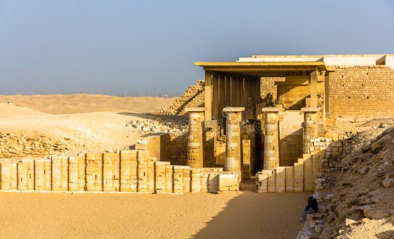 Pasillo hipóstilo en la pirámide de Zoser - Saqqara foto de archivo