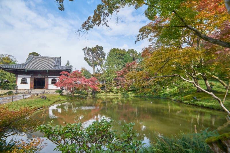 Pasillo histórico hermoso en la puerta delantera del templo del daiji del  de KÅ imagen de archivo