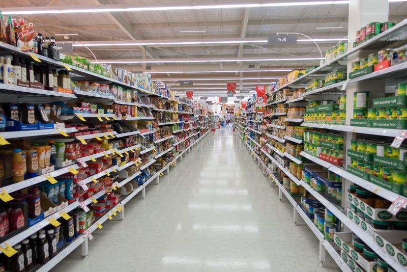 Pasillo Hong-Kong del supermercado imagen de archivo