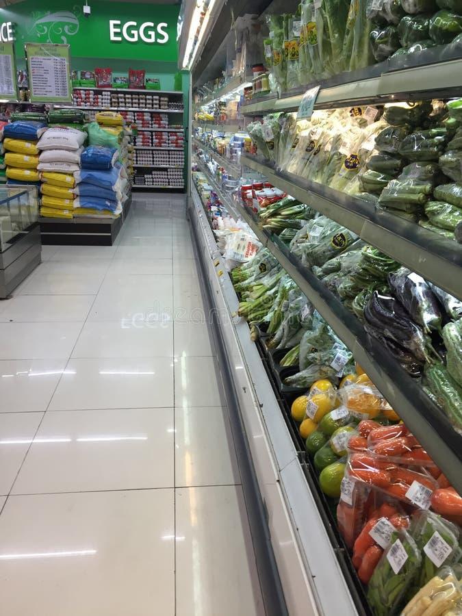 Pasillo Hong-Kong del supermercado fotos de archivo