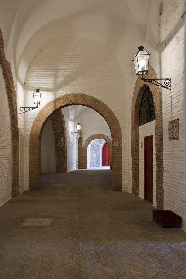 Pasillo interno de la plaza de toros imágenes de archivo libres de regalías