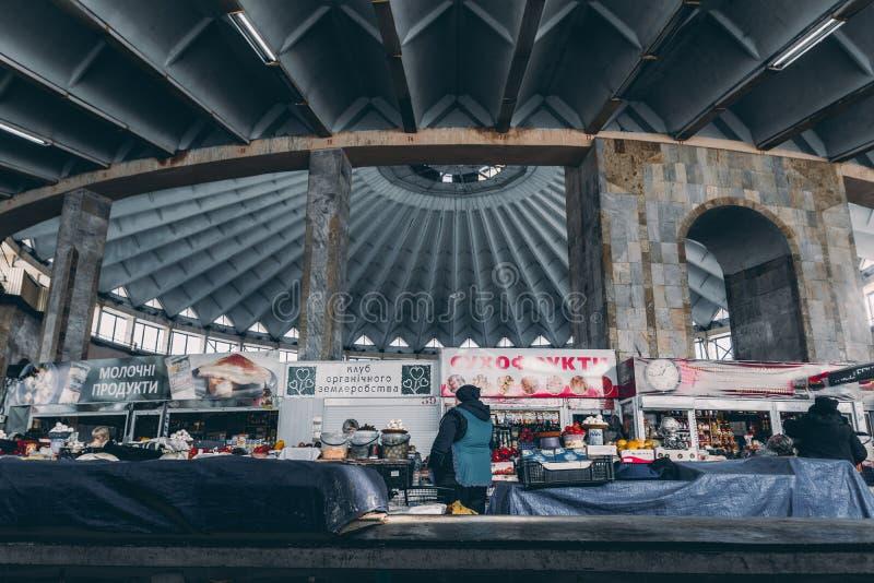 Pasillo Ivano-Frankivsk del mercado imagenes de archivo
