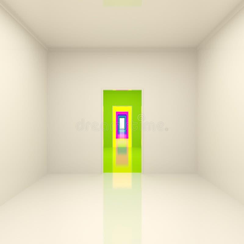 Pasillo largo abstracto ilustración del vector