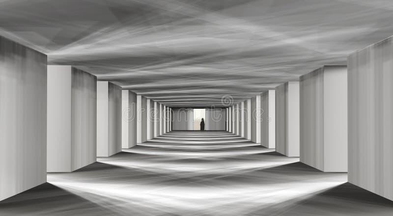 Pasillo místico ilustración del vector