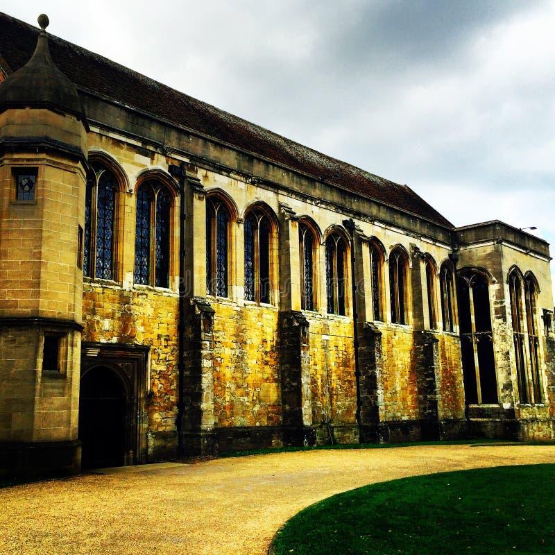 Pasillo magnífico medieval del palacio de Eltham fotos de archivo