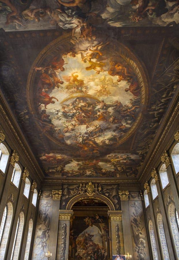 Pasillo pintado en Greenwich imagen de archivo libre de regalías