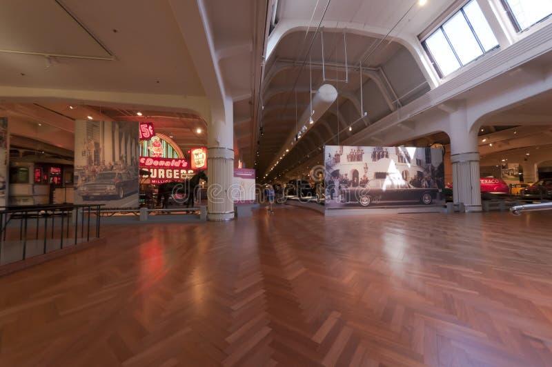 Pasillo principal del museo de Ford imagen de archivo libre de regalías
