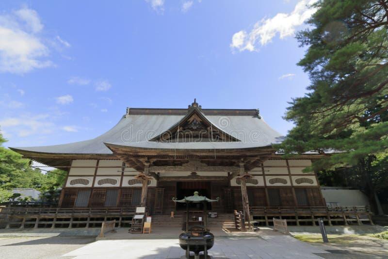 Pasillo principal del templo de Chuson, Hiraizumi imágenes de archivo libres de regalías