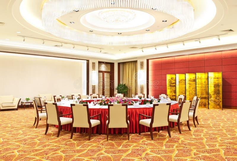 Pasillo que banquetea chino de lujo foto de archivo libre de regalías