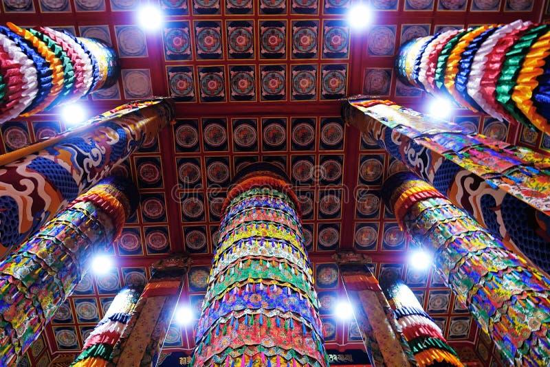 Pasillo tibetano de la escritura del templo foto de archivo libre de regalías