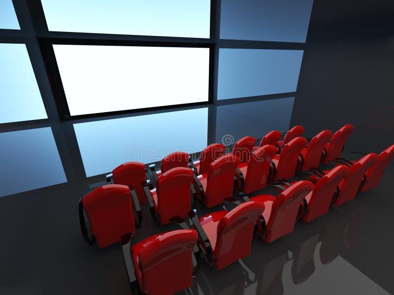 Pasillo vacío del cine. interior 3D libre illustration