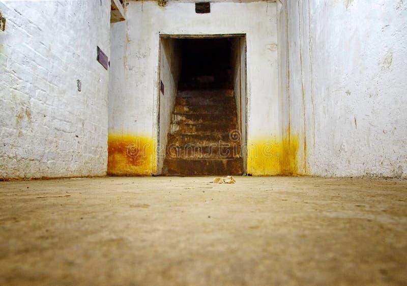 Pasillos subterráneos para los propósitos militares fotografía de archivo