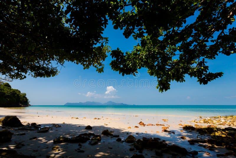 Pasir Pantai Tengkorak Cenang Langkawi photographie stock