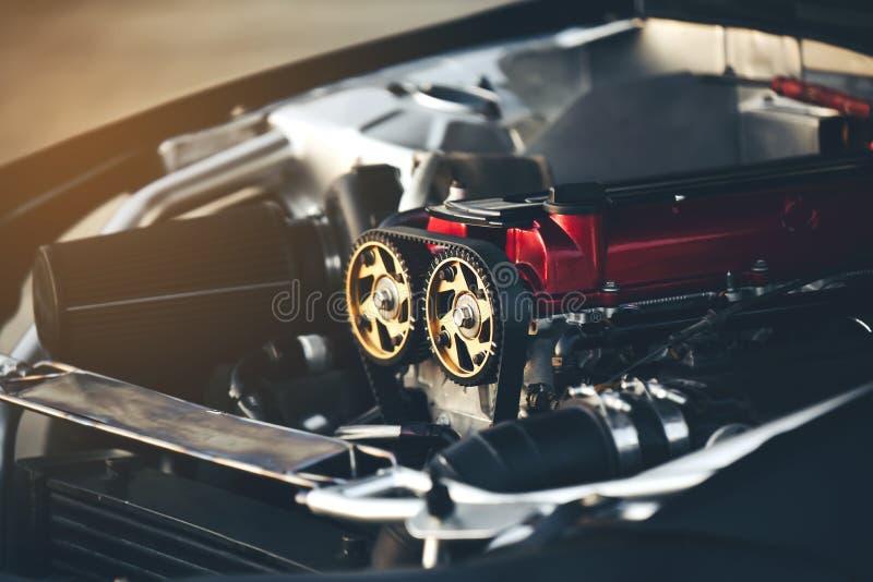 Pasków silniki są istotnym składnikiem samochodowy bieżny samochód obraz royalty free