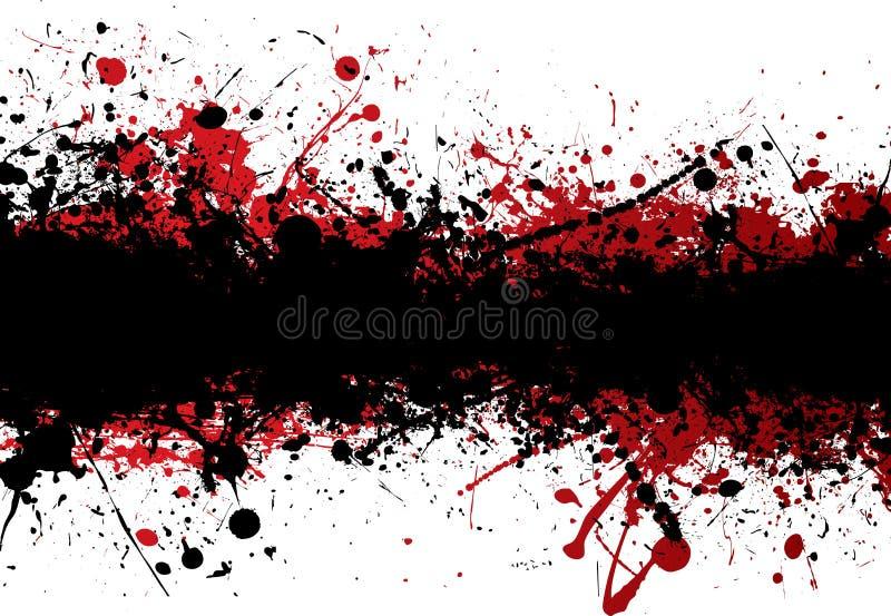 paska czarny krwionośny wierzchołek royalty ilustracja