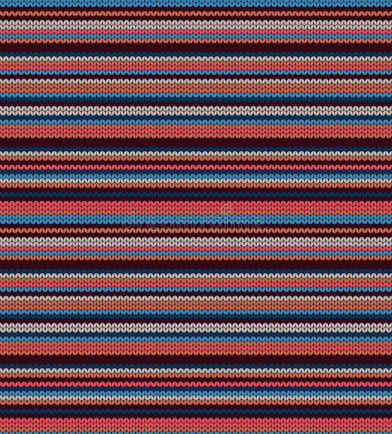paski bezszwowy ?rodowisk dekoracyjny Trykotowy wzór dla puloweru, szalika lub skarpet, Jacquard wyplata Tapeta lub pokrywa ilustracji
