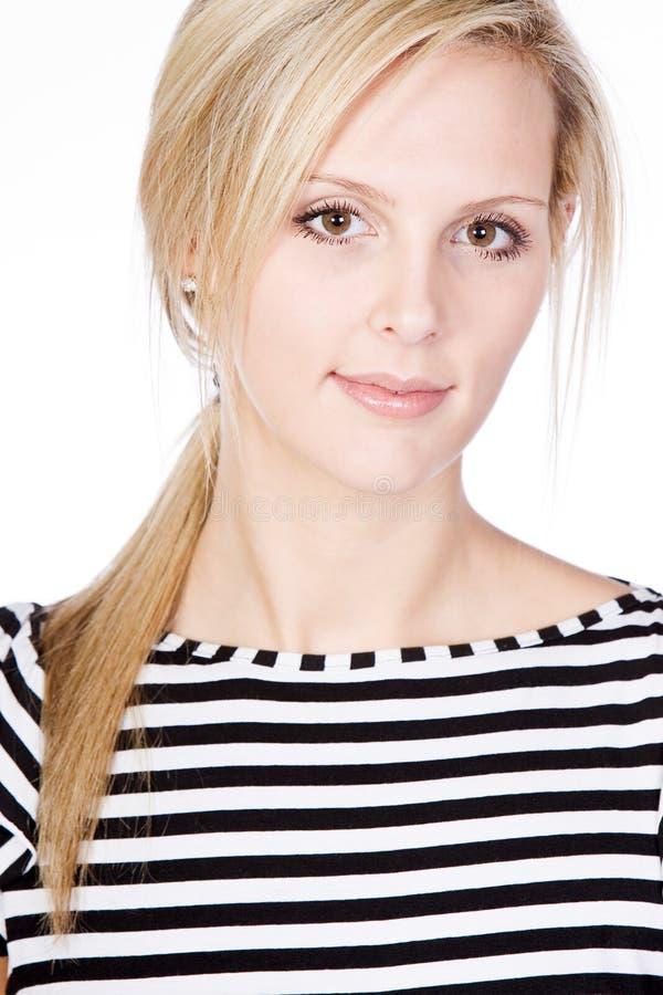 paskująca wierzchołek atrakcyjna blondynka zdjęcia stock