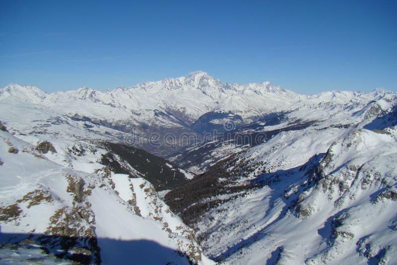 pasmo górskie śnieżny zdjęcia royalty free