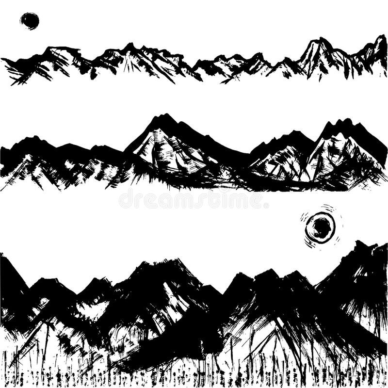 Pasmo górskie. ilustracji