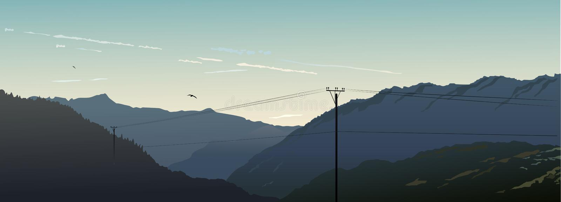 pasmo górskie ilustracja wektor