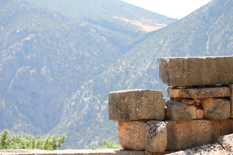 Pasmo górskie Delphi fotografia royalty free
