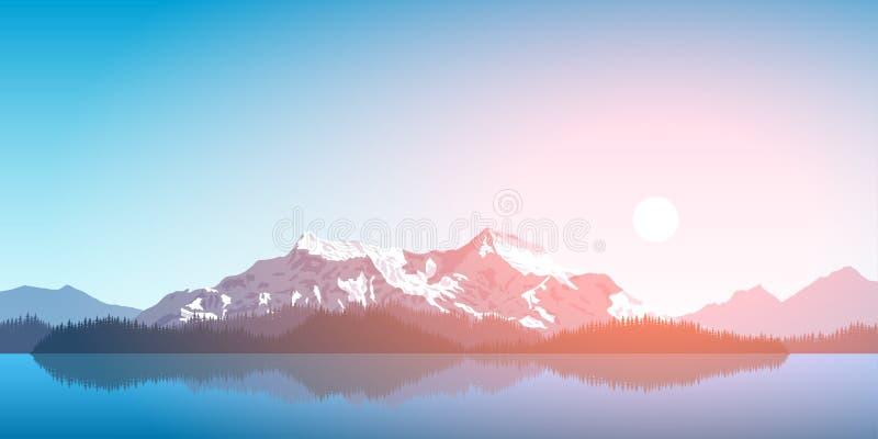Pasmo górskie krajobraz ilustracja wektor