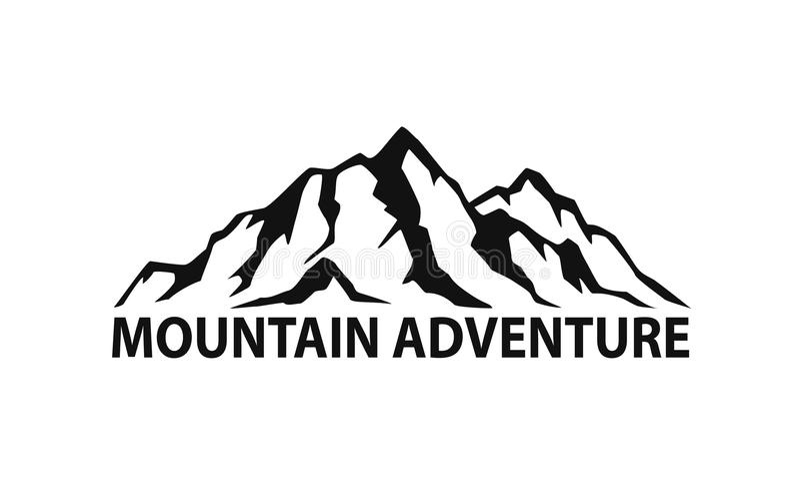 Pasmo górskie symbolu sylwetka ilustracji