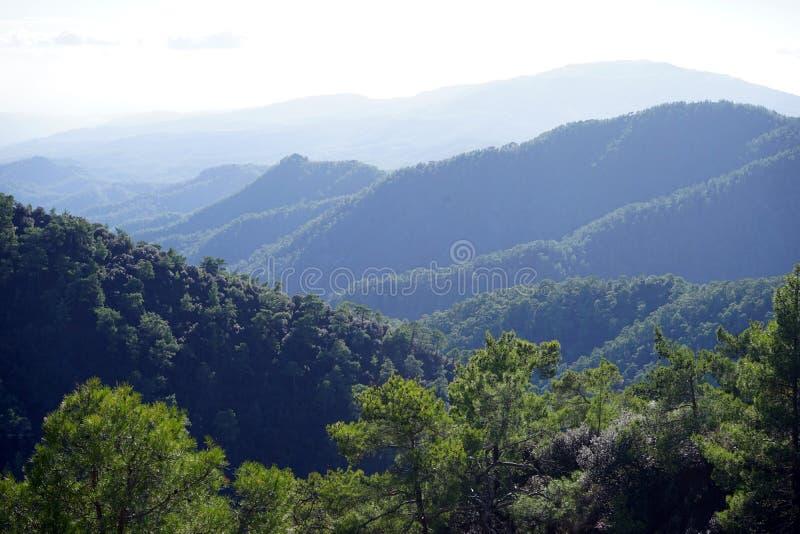 Pasmo górskie w Cypr obrazy royalty free
