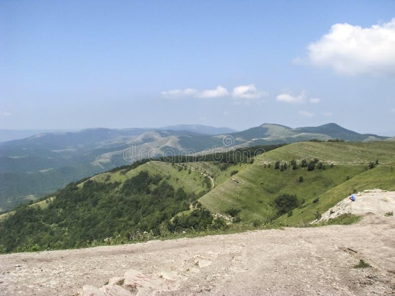 Pasmo górskie w Kaukaz górach fotografia stock
