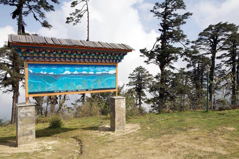 Paso de Dochula, Bhután fotografía de archivo libre de regalías