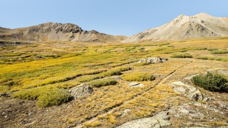 Paso de Elkhead, desierto colegial de los picos, Pike y San Isabel N foto de archivo libre de regalías