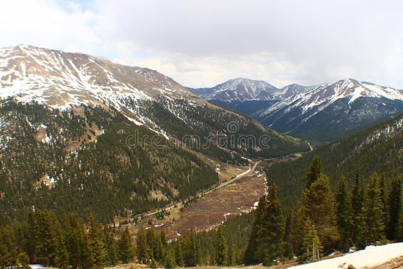 Paso de la independencia Rocky Mountains, Colorado foto de archivo libre de regalías