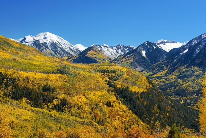 Paso de McClure del color de la caída, mármol, Colorado imagen de archivo libre de regalías