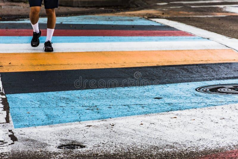 Paso de peatones la calle imágenes de archivo libres de regalías
