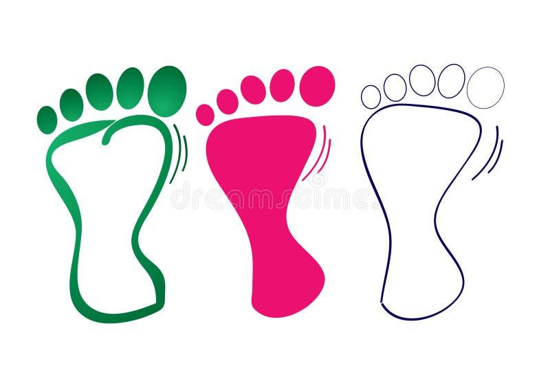 Paso de progresión del pie stock de ilustración