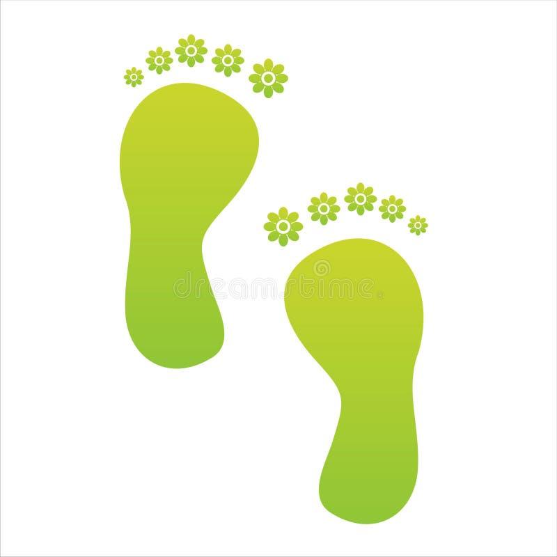 Paso de progresión floral verde del pie ilustración del vector