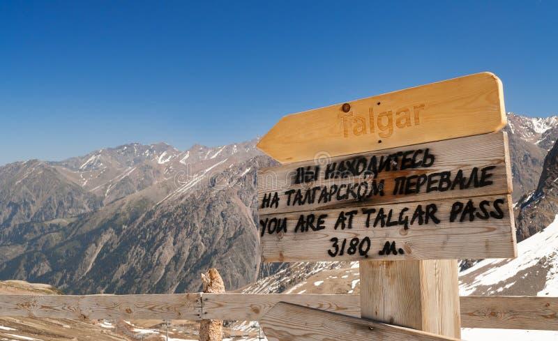 Paso de Talgar Estación de esquí de Shymbulak fotografía de archivo libre de regalías